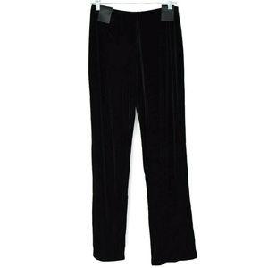 Alfani Womens Velvet Solid Wide Leg Pants Black